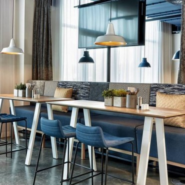 In cooperation with designers, our company manufactures furniture for restaurants and coffee shops around Europe. Our mission is to make carefully designed furniture tailored to each restaurant, creating a modern but relaxing feel.