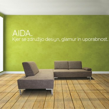 Aida offers complete adaptability besides being comfortable. The possibility of moving and adding back cushions, along with wide seating gives it usefulness and modern look.