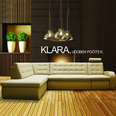 Klara has soft, modern lines with a variety of smart functions. You can choose between different stitching, cushion hardness, recliner, headrests...