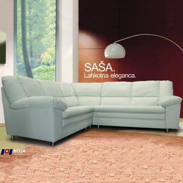 Saša has soft lines with sprung seats and back cushions made out of quality soft filling, that preserves its shape and offers superb back support for maximum relaxation.